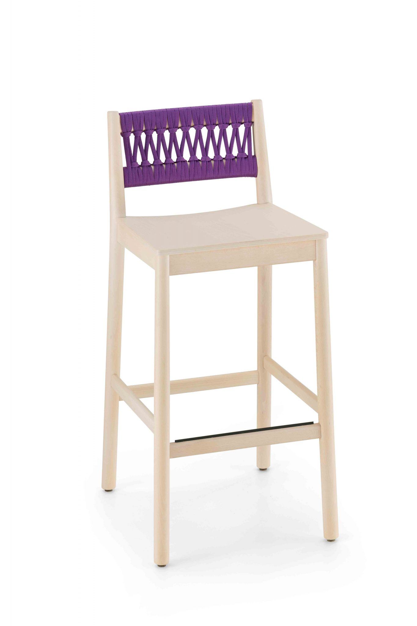 0028-IN-H76-JULIE-Sgabello-in-faggio-verniciato-e-sedile-legno,-schienale-in-corda,-stool-in-beech-painted-and-wood-seat,-back-in-rope