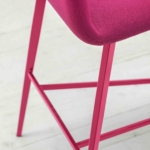 0032-MET-BARDOT-stool-base-metal-and-shell-padded -, - stool-Bardot-metal-base-painted-and-shell-padded