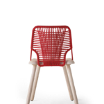 chair Jackie 0043-LE nat+red
