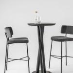 stool Marlen 0163-met +table Niels fast food 0124