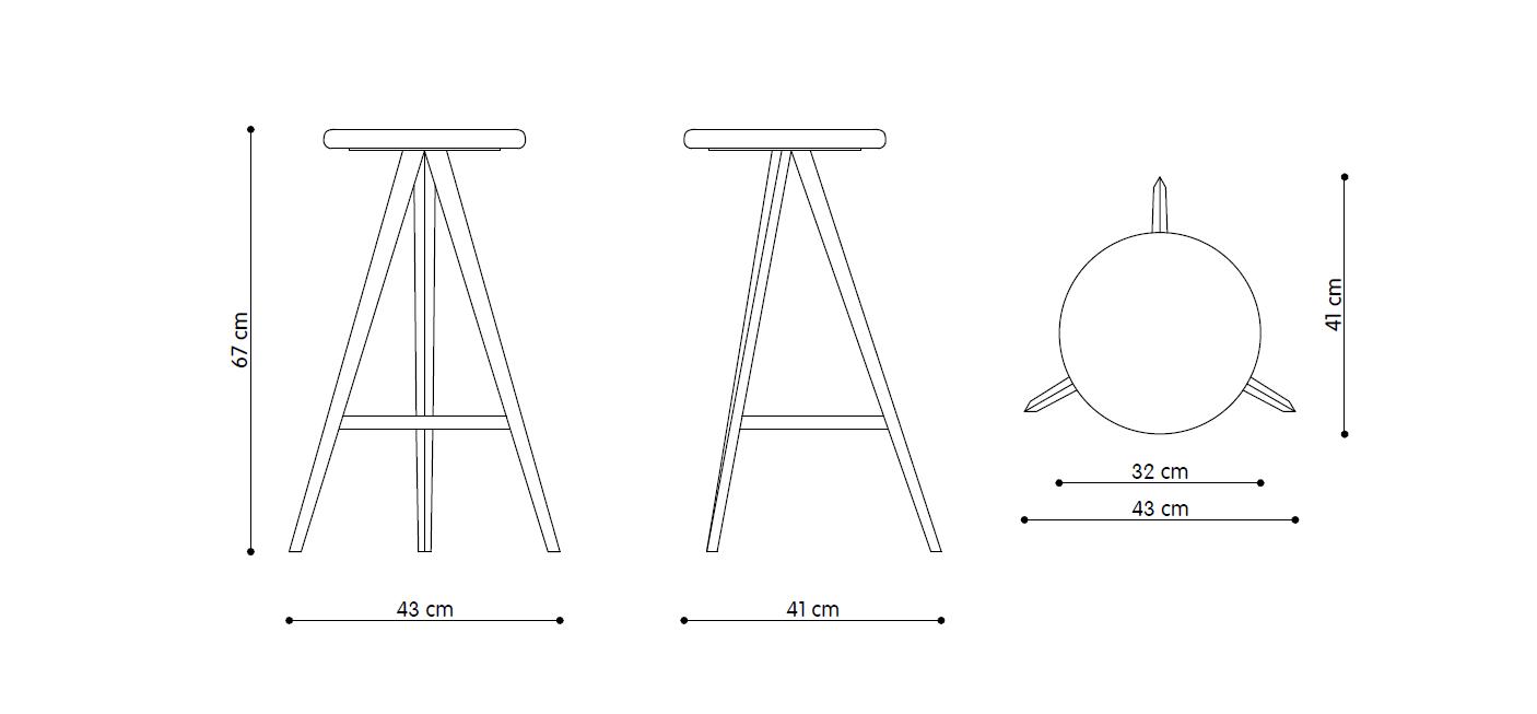 aky-stool-h67-disegno