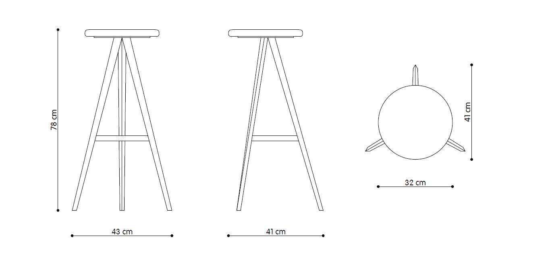 Aky-stool-H78-disegno