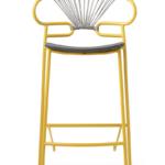 stool Genoa 0049-met-croos-PU-
