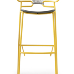 stool Genoa 0049-met-cross-PU h.78